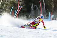 FRANCONIA, NH - MARCH 12: Amelia Smart of the Denver Pioneers during the Women's Slalom race of the Division I Men's and Women's Skiing Championships held at Cannon Mountain on March 12, 2021 in Franconia, New Hampshire. Smart placed first in the event to win the national title. (Photo by Brett Wilhelm/NCAA Photos via Getty Images)
