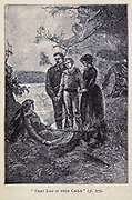 That Lad is your Child from the book ' Mistress Branican ' by Jules Verne, illustrated by Leon Benett. The story begins in the United States, where the heroine, Mistress Branican, suffers a mental breakdown after the death by drowning of her young son. On recovering, she learns that her husband, Captain Branican, has been reported lost at sea. Having acquired a fortune, she is able to launch an expedition to search for her husband, who she is convinced is still alive. She leads the expedition herself and trail leads her into the Australian hinterland. Mistress Branican (French: Mistress Branican, 1891) is an adventure novel written by Jules Verne and based on Colonel Peter Egerton Warburton and Ernest Giles accounts of their journeys across the Western Australian deserts, and inspired by the search launched by Lady Franklin when her husband Sir John Franklin was reported lost in the Northwest Passage. Translated by A. Estoclet, Published in New York, Cassell Pub. Co. 1891.