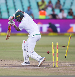 Durban. 040318.  Kagiso Rabada during day 4 of the 1st Sunfoil Test match between South Africa and Australia at Sahara Stadium Kingsmead on March 04, 2018 in Durban, South Africa. Picture Leon Lestrade/African News Agency/ANA