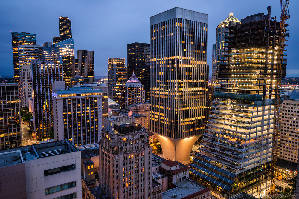Core of Downtown Seattle feat. Rainier Square Tower (right)