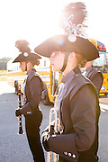 The Oregon Marching Band, collectively known as Shadow Armada, performs in Sutton's Bay, Michigan on July 11, 2012.
