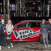 NLD/Halfweg/20161002 - Foto jury The voice of Holland 2016 / 2017, Waylon, Miss Montreal, Ali B., Guus Meeuwis