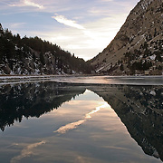Lake at Balneário de Panticosa, nearby the ski resort of El Formigal in the spanish Pyrinees.