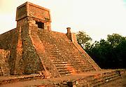 MEXICO, MEXICO CITY Aztec, Santa Cecilia Pyramid