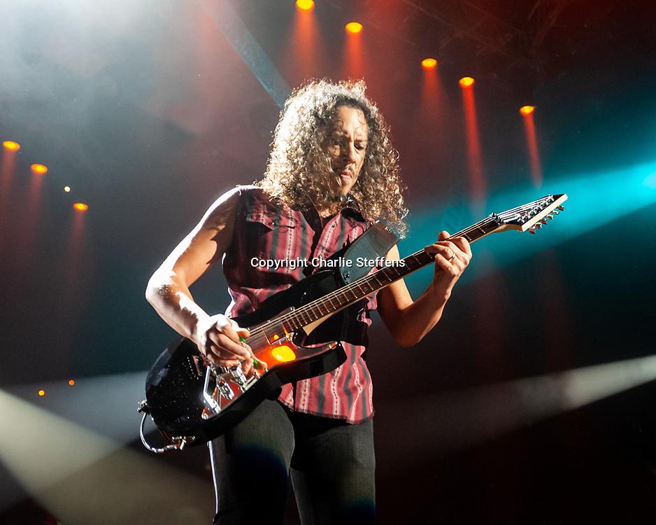 KIRK HAMMETT of Metallica at The Forum in Inglewood, California