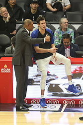 December 17, 2018 - Los Angeles, CA, U.S. - LOS ANGELES, CA - DECEMBER 17: Clippers coach Doc Rivers talking with Los Angeles Clippers Forward Danilo Gallinari (8) during the Portland Trail Blazers at Los Angeles Clippers NBA game on December 17, 2018 at Staples Center in Los Angeles, CA.. (Photo by Jevone Moore/Icon Sportswire) (Credit Image: © Jevone Moore/Icon SMI via ZUMA Press)