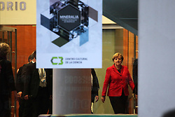 June 8, 2017 - Buenos Aires, Buenos Aires, Argentina - German Chancellor Angela Merkel visited the Technological Pole to hold a meeting with scientists and students. The police took strong security measures. (Credit Image: © Claudio Santisteban via ZUMA Wire)