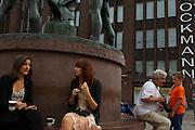 City centre outside the Stockman store,Helsinki, Finland (Suomi)