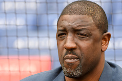 May 6, 2018 - Washington, DC, U.S. - WASHINGTON, DC - MAY 06:  Former NBA player and All Star, Walt Williams is inducted into the Washington Sports Hall of Fame prior to the game between the Philadelphia Phillies and the Washington Nationals on May 6, 2018, at Nationals Park, in Washington D.C.  The Washington Nationals defeated the Philadelphia Phillies, 5-4.  (Photo by Mark Goldman/Icon Sportswire) (Credit Image: © Mark Goldman/Icon SMI via ZUMA Press)