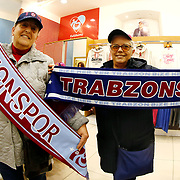 Trabzonspor's supporters during their Turkish Super League match Trabzonspor between Gaziantepspor at the Avni Aker Stadium at Trabzon Turkey on Wednesday, 28 October 2015. Photo by Aykut AKICI/TURKPIX
