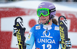 29.12.2014, Hohe Mut, Kühtai, AUT, FIS Ski Weltcup, Kühtai, Slalom, Damen, 2. Durchgang, im Bild Sarka Strachova (CZE) // Sarka Strachova of Czech Republic reacts after 2nd run of Ladies Giant Slalom of the Kuehtai FIS Ski Alpine World Cup at the Hohe Mut Course in Kuehtai, Austria on 2014/12/29. EXPA Pictures © 2014, PhotoCredit: EXPA/ Erich Spiess