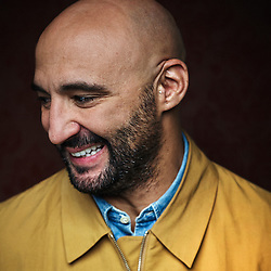 Paris, France. October 13, 2014. Director Yann Demange, posing at the Chateaubriand Hotel. Photo: Antoine Doyen