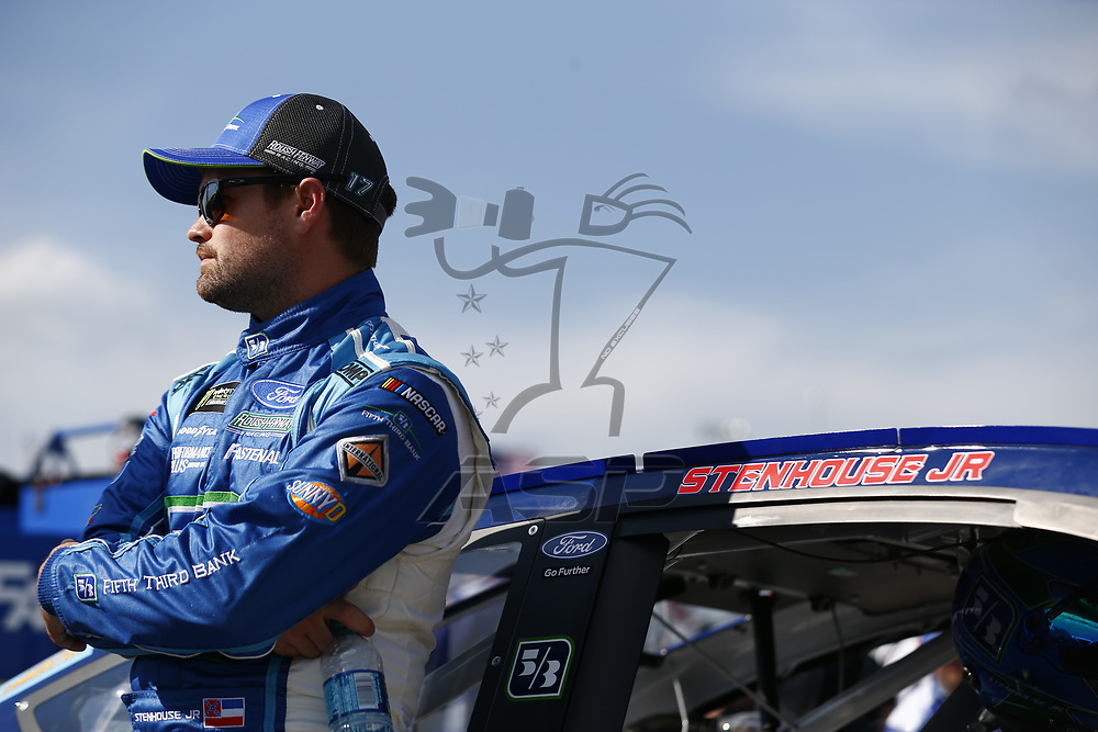 April 28, 2017 - Richmond, Virginia, USA: Ricky Stenhouse Jr. (17) hangs out on pit road prior to qualifying for the Toyota Owners 400 at Richmond International Speedway in Richmond, Virginia.