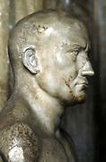 Scipio, Publius Cornelius, Africanus Major (237-183 BC) Roman general. Marble bust, Capitole Museum, Rome.