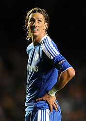19.10.2011, Stamford Bridge Stadion, London, ENG, UEFA CL, Gruppe E, Chelsea FC (ENG) vs Racing Genk (BEL), im Bild Chelsea's Fernando Torres looks on // during UEFA Champions League group E match between Chelsea FC (ENG) and Racing Genk (BEL) at Stamford Bridge Stadium, London, United Kingdom on 19/10/2011. EXPA Pictures © 2011, PhotoCredit: EXPA/ Propaganda Photo/ Chris Brunskill +++++ ATTENTION - OUT OF ENGLAND/GBR+++++