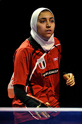 09-05-2011 TAFELTENNIS: WORLD TABLE TENNIS CHAMPIONSHIPS: ROTTERDAM<br /> Sara Hassan from Egypt<br /> ©2011-FotoHoogendoorn.nl