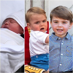 Undated composite file photos of Prince Louis, who is celebrating his second birthday on Thursday, was born on patriotic St George???s Day in 2018.