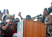WASHINGTON, D.C.: AUGUST 28, 2020- Yolanda Renee King, Daughter of Martin Luther King III and Grand daughter of the Rev. Dr. Martin Luther King attends the Commitment March: Get Your Knee Off Our Necks with Rev. Al Sharpton, President & CEO, National Action Network and MSNBC On-air personality, Civil Rights Activist Martin Luther King III, Rachel and others speakers along with the families of Jacob Blake, George Floyd, Breonna Taylor, Eric Garner, Rayshard Brooks, Ahmaud Arbery & many others convene the 57th Anniversary of the historic 'March on Washington' National Action Network (NAN) for a March on Washington in protest of police brutality held at the Lincoln Memorial on August 28, 2020 in Washington, D.C.  Photo Photo credit: Terrence Jennings/terrencejennings.com