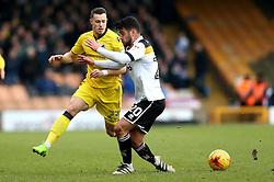 Billy Bodin of Bristol Rovers goes past Kiko of Port Vale - Mandatory by-line: Robbie Stephenson/JMP - 18/02/2017 - FOOTBALL - Vale Park - Stoke-on-Trent, England - Port Vale v Bristol Rovers - Sky Bet League One