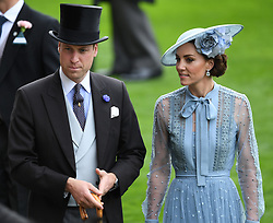 Members of The Royal Family attend the first day of Royal Ascot, Ascot Racecourse, Ascot, Berkshire, UK, on the 18th June 2019. 18 Jun 2019 Pictured: Prince William, Duke of Cambridge, Catherine, Duchess of Cambridge, Kate Middleton. Photo credit: James Whatling / MEGA TheMegaAgency.com +1 888 505 6342