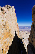 The Owens Valley from the Mount Whitney trail, Sequoia National Park, California USA