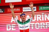 Podium, Elia Viviani (ITA - QuickStep - Floors) winner, during the UCI World Tour, Tour of Spain (Vuelta) 2018, Stage 3, Mijas - Alhaurin de la Torre 178,2 km in Spain, on August 27th, 2018 - Photo Luca Bettini / BettiniPhoto / ProSportsImages / DPPI