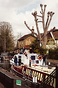 Maidenhead, Berkshire, United Kingdom, Tuesday, 13/04/2021, General View,  Boulters Lock, Ray Mill Island,  Riverside GardensRiver Thames, Thames Valley, [Mandatory Credit; Pete Spurrier],