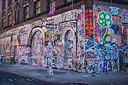 NYC Graffiti on Bank Building in NOLITA