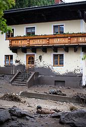 02.06.2013, Hoegmoos, Taxenbach, AUT, Pinzgau Murenabgang im Taxenbacher Ortsteil Hoegmoos, im Bild Verwuestung und Zerstoerung nach einem Murenabgang durch den Taxenbacher Ortsteil Högmoos. Starkregen sorgt derzeit vor allem in Tirol, Oberoesterreich und Salzburg für massive Überflutungen, Vermurungen und Hangrutsche // Parts of Pinzgau were declared a disaster area. Heavy rain is currently making, especially in Tyrol, Upper Austria and Salzburg for massive flooding, mudslides and landslides, Hoegmoos, Austria on 2013/06/02. EXPA Pictures © 2012, PhotoCredit: EXPA/ Juergen Feichter