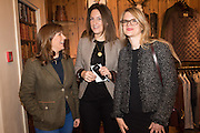 LAURA AGAN; SOPHIE MONEY-COUTTS; GAVANNDRA HODGE, Tatler and Dubarry host an evening with Clare Balding, Dubarry of Ireland, 34 Duke of York's Sq. London. 13 October 2016.