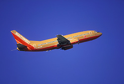 Southwest Airlines Airplane in Flight