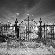 Gate to the Parr Family ground of Mountain View Cemetery in Carbon County, Wyoming.