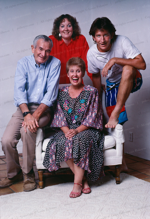 """Erma Bombeck at home in Scottsdale, Arizona.  She was author of the book, """"Family: the ties that Bind and Gag."""""""