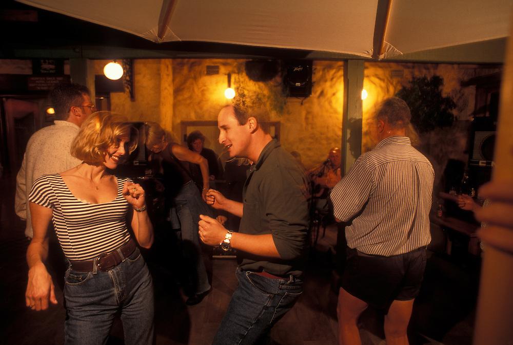 Australia, Western Australia, (MR) Louise and Nicholas Law dance at Norfolk Hotel pub in Freemantle near Perth