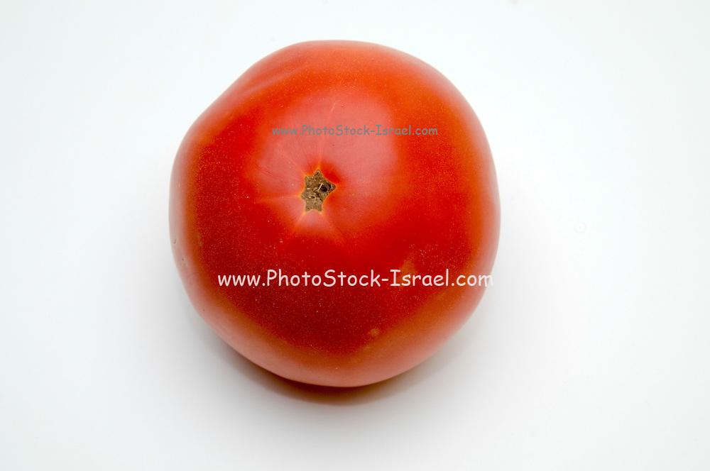 fresh, ripe Red tomato on white background