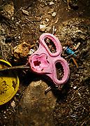 Rifiuti di plastica in riva al mare, zona costiera Adriatica meridionale. Bari 24 Febbraio 2020. Christian Mantuano / OneShot