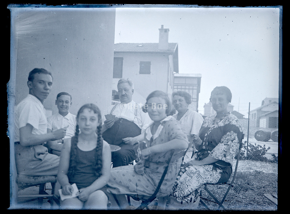 family during a vacation at Côte D'argent in France 1933