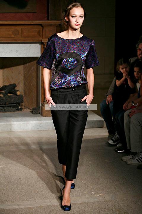 Lana wearing the Cynthia Rowley Fall 2009 Collection.