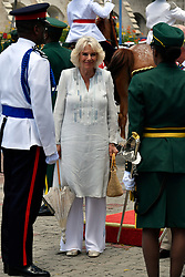 The Duchess of Cornwall arrives in Heroes Square, Bridgetown, Barbados for an official arrival ceremony, as she continues her tour of the Caribbean.