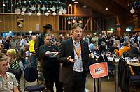 DEU, Deutschland, Germany, Neumarkt i. d. Oberpfalz, 10.05.2013:<br />Bundesparteitag der Piratenpartei Deutschland. Vorn am Mikrofon: Jens Seipenbusch, ehemaliger Bundesvorsitzender der Piratenpartei.