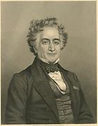 Michel Eugene Chevreul (1786-1889) French chemist.   Engraving c1860.