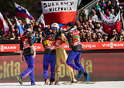 Robert Johansson, Anders Fannemel, Andreas Stjernen and Johan Andre Forfang of Norway celebrate after winning during the Ski Flying Hill Men's Team Competition at Day 3 of FIS Ski Jumping World Cup Final 2017, on March 25, 2017 in Planica, Slovenia. Photo by Vid Ponikvar / Sportida