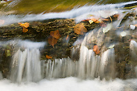 Small cascade on travertine, Galovac barrier, Upper Lakes, Plitvice National Park, Croatia