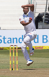 Durban. 010318. Vernon Philander of South Africa in action againts Australia during their first Sunfoil Test Match played in Durban. Picture Leon Lestrade/Afrcan Nes Agency/ ANA