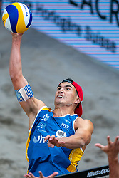 Esteban Grimalt CHL in action during the third day of the beach volleyball event King of the Court at Jaarbeursplein on September 11, 2020 in Utrecht.