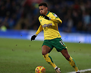 Josh Murphy of Norwich city in action. EFL Skybet championship match, Cardiff city v Norwich city at the Cardiff city stadium in Cardiff, South Wales on Friday 1st December 2017.<br /> pic by Andrew Orchard, Andrew Orchard sports photography.