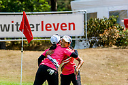 21-07-2018 Pictures of the final day of the Zwitserleven Dutch Junior Open at the Toxandria Golf Club in The Netherlands.21-07-2018 Pictures of the final day of the Zwitserleven Dutch Junior Open at the Toxandria Golf Club in The Netherlands.  BOON-IN, Napabnach (TH) congratulating BUNNABODEE, Kan (TH)