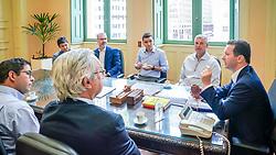 Porto Alegre, RS - 04/02/2020:  Prefeito Nelson Marchezan Júnior se reuniu com o presidente da CFL Construções, Luciano Bocorny Correa. Foto: Jefferson Bernardes/PMPA