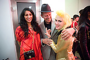 SERENA REES; PAUL SIMONON; PAM HOGG, Tracey Emin opening. White Cube. Mason's Yard. London. 28 May 2009.