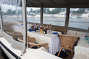"""Henley on Thames, United Kingdom. 2016 Henley Masters' Regatta. Henley Reach. England. on Saturday  09/07/2016   [Mandatory Credit/ Peter SPURRIER/Intersport Images]<br /> <br /> """"The Night After""""  Henley Festival site."""